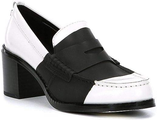 Pamelyn Loafer Pump, White/Black