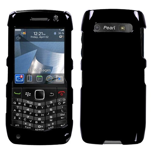 RIM BlackBerry 9100 (Pearl 3G) Solid Black Phone Protector Cover Case (Rim Blackberry 3g)