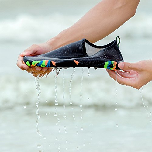 Socks Sole For Pool Shoes Skin Black Sports Quick Footwear Rubber with Aqua Men Women Yoga Water Fitness Dry Beach Camp Sport Water Shoes Barefoot Water xnqZaa0v8