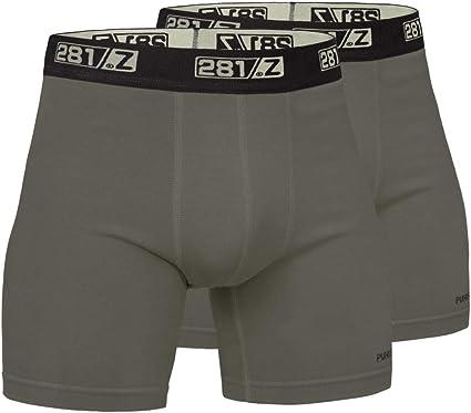 "Mens Under Armour Tactical 6/"" Black Cotton Jock Underwear Boxer Briefs"