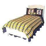 DK Leigh 8 Piece Children's Comforter Bedding and Sheet Set, Sailboat, Twin