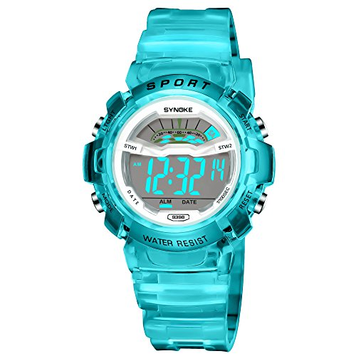 Kids Sport Outdoor Electrical Digital Waterproof Watch with Multiple Alarm Stopwatch Potty Training Reminder Child Wristwatch for Age Boys Girls 4-12