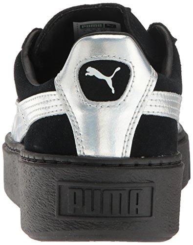 Puma Womens Suede Platform Explos Bwns Fashion Sneaker Puma Black-puma Black