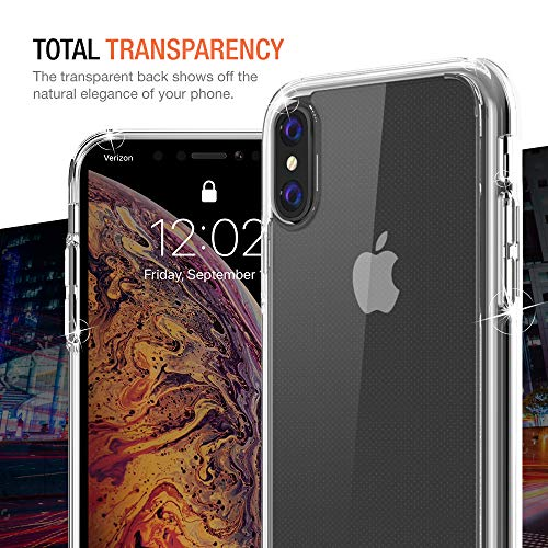 Trianium Clarium Case Designed for Apple iPhone Xs MAX Case (2018 6.5'' Display ONLY) Reinforced Corner TPU Cushion and Hybrid Rigid Clear Back Plate Protection Covers [Enhanced Hand Grip] - Clear by Trianium (Image #4)