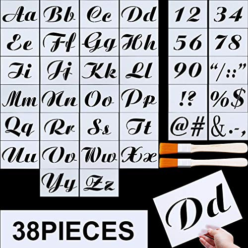 - Letter Stencils, Alphabet Templates, Alphabet Stencils Reusable Plastic Art Craft Stencils with Numbers (Style E, Size 5)