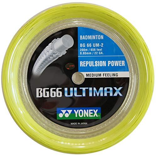 Yonex BG66 Ultimax Badminton String - 200m Reel, Color- Yellow