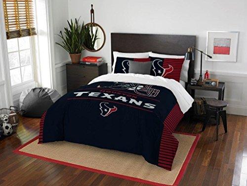 Northwest Enterprises Houston Texans Combo 5 Pc Full/Queen Size Comforter Set Includes: Comforter, 2 Pillow Shams & 2 Pillowcases -NFL Football Bedding Accessories ()