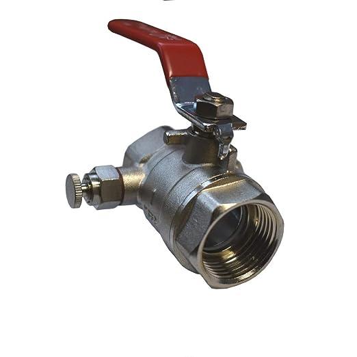 """19,5 mm acero-aleación de cromo 3//4/"""" válvula esférica con 2 x 3//4/"""" /""""rosca interna"""