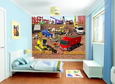 fototapete kinderzimmer baustelle. Black Bedroom Furniture Sets. Home Design Ideas