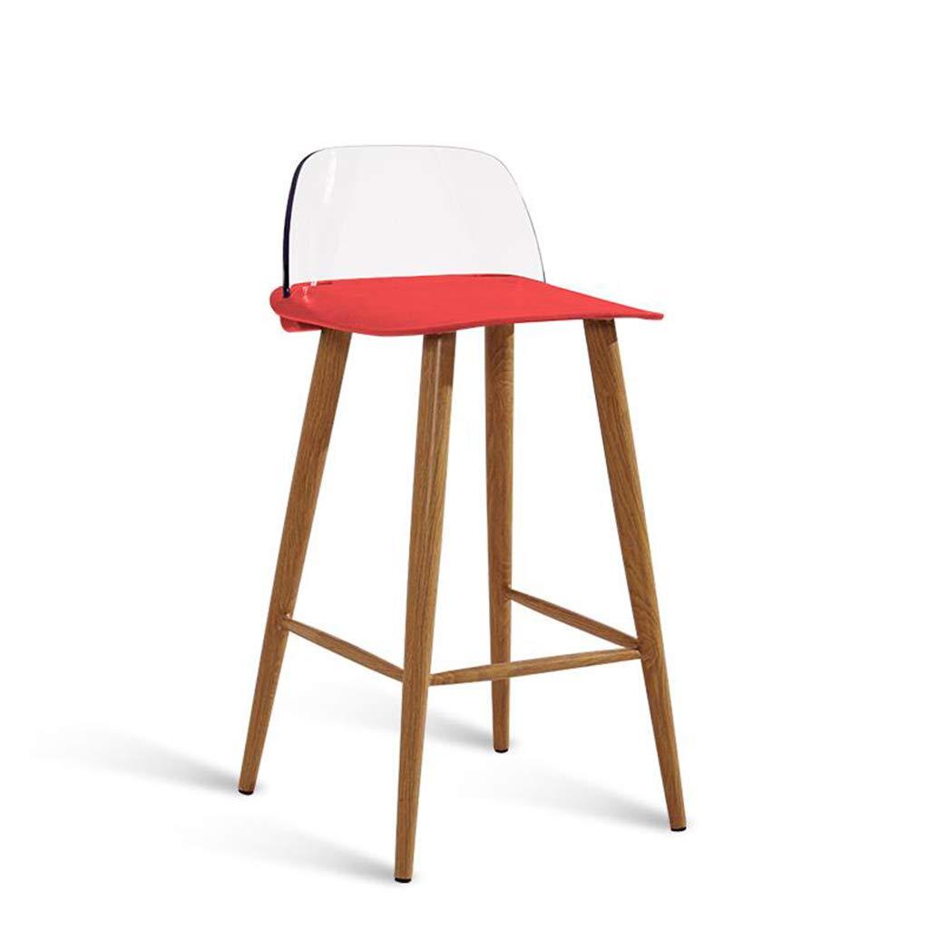 バースツール Red/バーチェア/モダンミニマリストパーソナリティバーチェアクリエイティブバースツールホームファッションバーチェア B07KQ7BXY1 (色 : Red) Red : B07KQ7BXY1, アスケチョウ:95b3ea17 --- integralved.hu