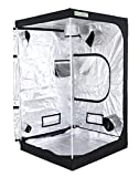 Zazzy 48''x48''x80'' Plant Growing Tents 600D Mylar Hydroponic Indoor Grow Tent for Plant Growing