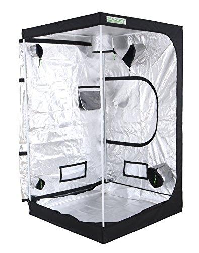 Zazzy 48''x48''x80'' Plant Growing Tents 600D Mylar Hydroponic Indoor Grow Tent for Plant Growing by Zazzy