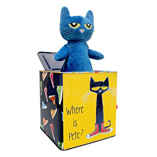 "Pete The Cat Jack-in-The-Box, 7"" from Kids Preferred"