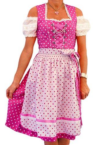 Country Line Mini Dirndl (kurz) 4-283/6 pink/weiß