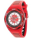 Performer - 7041612 - Montre Enfant - Quartz Analogique - Cadran Blanc - Bracelet Plastique Rouge