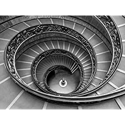 Spiral staircase at the Vatican museum Rome Italy Poster Print by Assaf Frank (18 x 24)