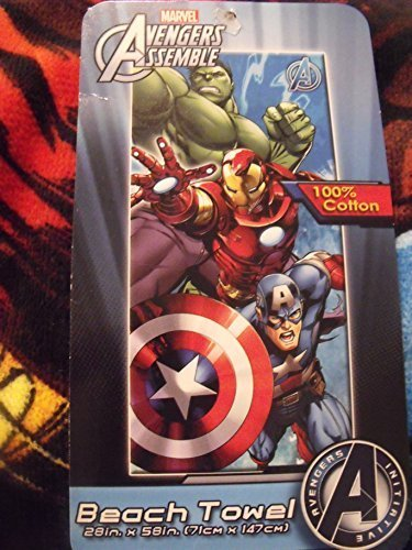 Avengers Assemble Hulk Iron Man Captain America 2015 Beach Towel