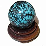 Turquoise Ball 50 Genuine American Crystal Sphere Rare Spiritual Healing Energy Display Stone Collectible Gift 1''