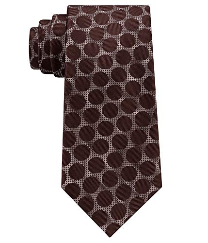 Sean John Men's City Dot Silk Tie Brown Necktie