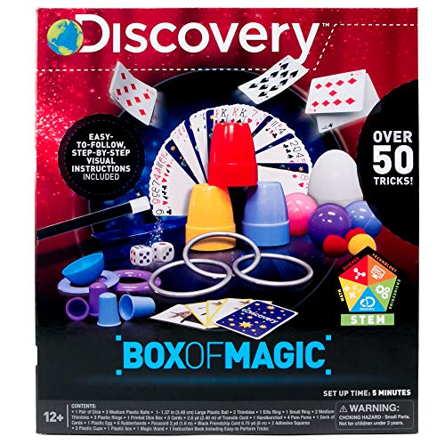 Discovery Box of Magic by Horizon Group USA, Great Stem Science Experiments, Over 50 Magic Tricks & Optical Illusions, Magic Wand & Instructions Included -