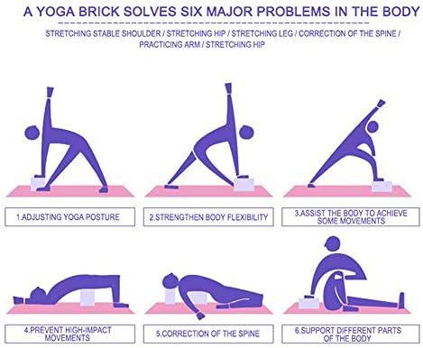 Yoga Brick Rosa Rossa Yoga Block Puntelli Mattone in Schiuma Ausili per Lo Stretching Palestra Pilates Yoga Block Fitness Sport Mattone Eva Yoga ad Alta densit/à