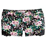 Epic Threads Girls' Tropical Flower Shorts Black 16