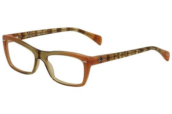 d795fd30da0de Ray-Ban Rx5255 (51) Eyeglasses RX5255 5487 Gradient Brown On Orange 51 16
