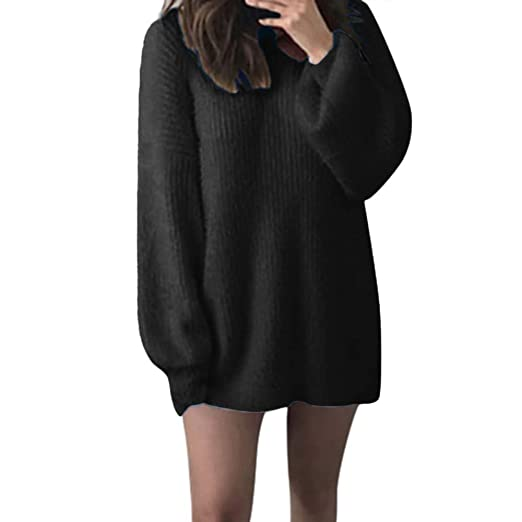 302fb4a0b51 Ghazzi Women Sweaters Solid Loose Tunics Warm Long Sleeves Pullover Tops  Blouse Cardigan Sweatshirt .