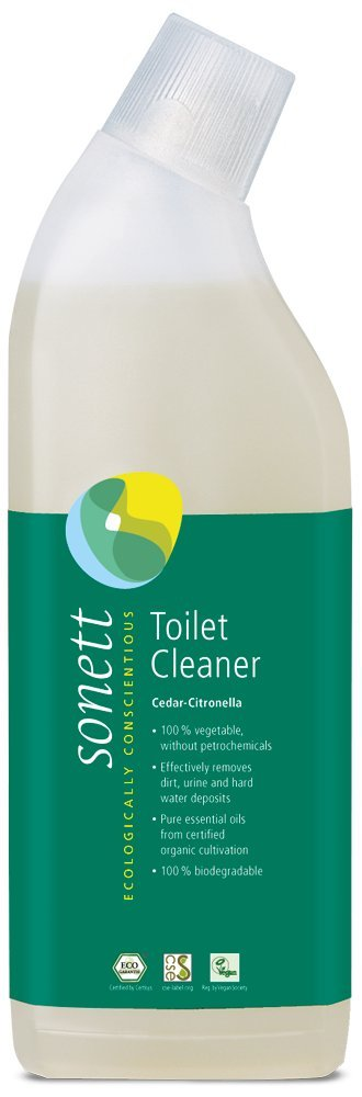 Sonett Organic Toilet Bowl Cleaner Cedar-Citronella 25.3 fl oz / 750ml A mixture of organic vegetable surfactants and organic cedar essential oil reduce germs effectively and produce pure fresh scent