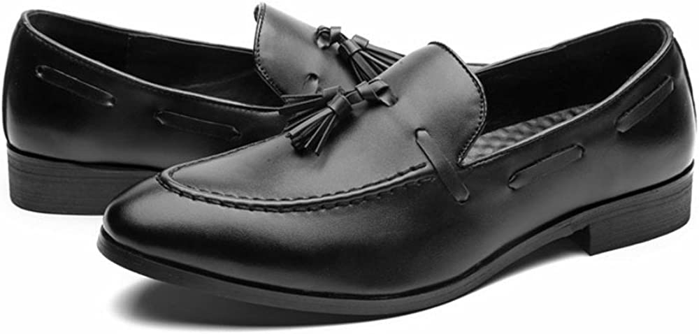 HYF Mens Business Oxford Casual Style The British Tassel Is Wearing Fashionable Pointed Toe Shoes Business Shoes for Men