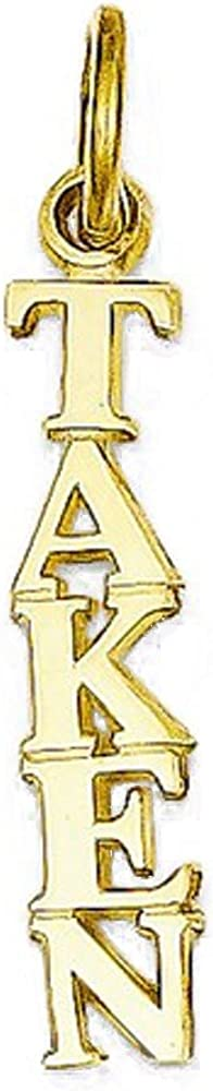 CKL International 14k Yellow Gold Small Taken Pendant Charm