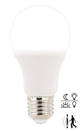 Luminea Bewegungsmelder Birne: E27-LED-Lampe mit Radar-Bewegungs- & Lichtsensor, 12 W, tageslichtweiß (LED Lampe mit Bewegung