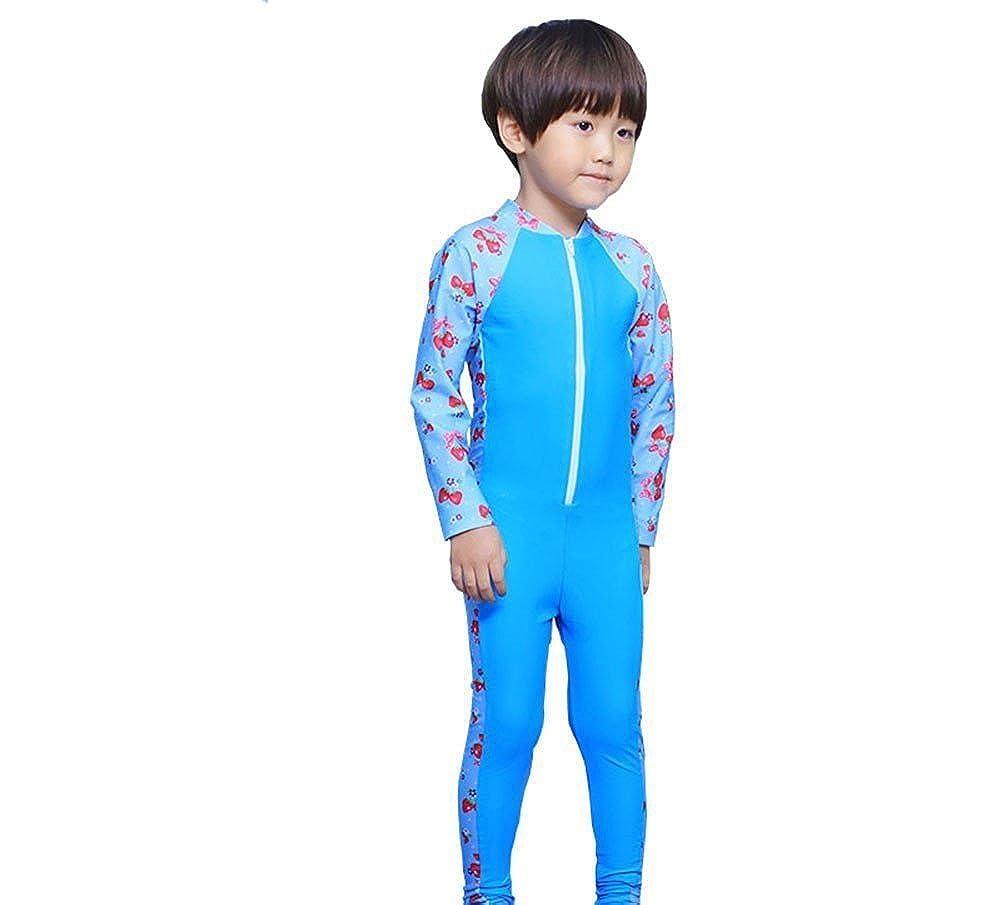 Estwell Kids Boys Girls Long Sleeves One Piece Swimsuit Sun Protective Swimwear