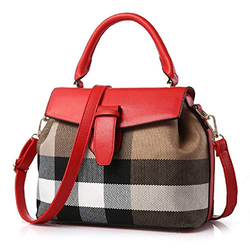 Women Handbags for Clearance Sale all occasion Stylish cross-body Satchel Shoulder Trendy lady's tote hot deals (color RED, SIZE: 11L,5W, 9H in ()