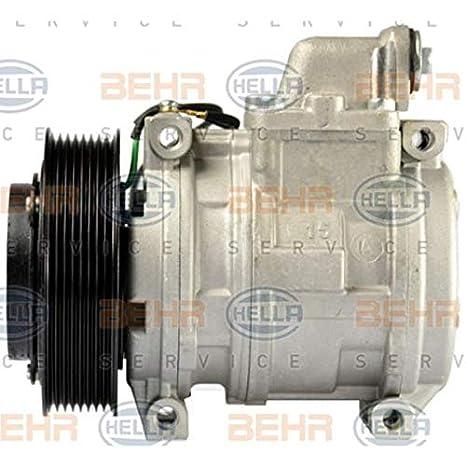 BEHR HELLA SERVICE 8FK 351 004-611 Compresor, aire acondicionado: Amazon.es: Coche y moto