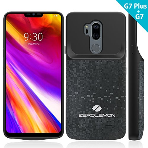 LG G7/G7+ ThinQ Battery Case, ZeroLemon Slim Power 4700mAh Extended Battery Case Rechargeable Charging Case Soft TPU Full Edge Protection LG G7/G7+ ThinQ - Black