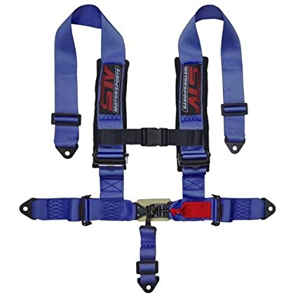 """STV Motorsports 5 Point Harness Set - 2"""" Pads - Universal H-Type - Bolt In  - Latch and Link Quick Release - for Off-Road, UTV, Trucks, Side by Side"""