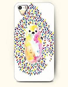 Phone Case For iPhone 5 5S Colorful Hedgehog - Hard Back Plastic Case / Oil Painting / SevenArc Authentic
