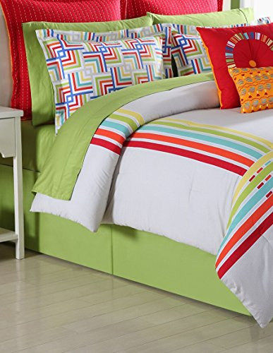 Fiesta 4-Piece Salaya Comforter Set-Full with Coordinating Bed Skirt and 2 Pillow Shams