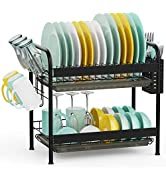 Over The Sink Dish Drying Rack, Veckle Premium Stainless Steel Dish Rack for Kitchen Counter Abov...