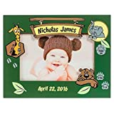 Personalized Baby Picture Frame, Baby Boy Picture Frame, New Baby Boy Frame, Baby Frame for Boys, Baby Boy Birth Frame, Zoo Animals Baby Frame Boy