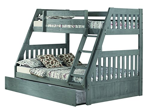 Discovery World Furniture Charcoal Twin over Full Bunk Bed w