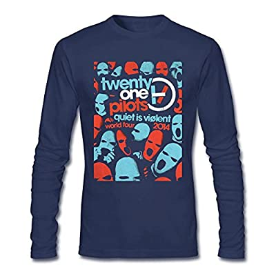 SDUAE Men's Twenty One Pilots Mask Long Sleeve T Shirt S Royal Blue