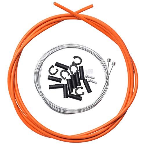 (corki Universal Bicycle Shifter Cable Housing Set for Shimano Sram Derailleur Orange)