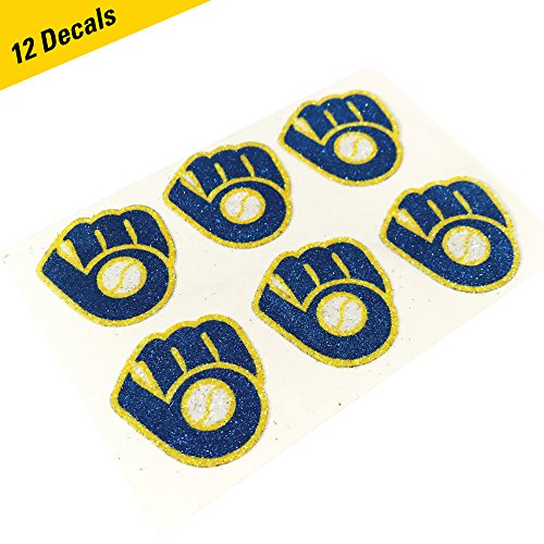 (Milwaukee Brewers MLB Glitter Cheek Decals, Perfect for Game Day and Tailgate (12 Decals))