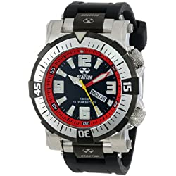 """REACTOR Men's 55801 """"Poseidon"""" Stainless Steel Watch with Black Rubber Strap"""