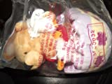 "6"" Winnie the Pooh Colorful Bean Bag Easter Egg & 2 Duck Friends Plush Disney"