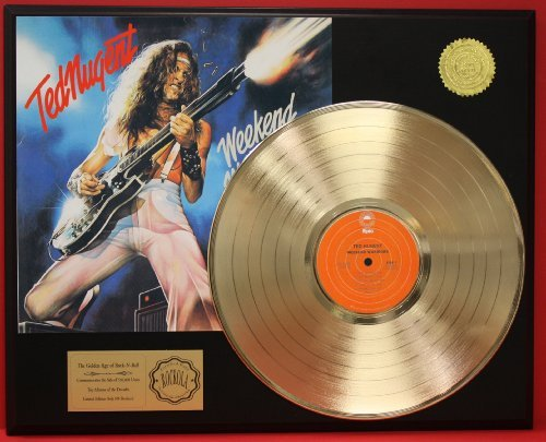 Ted Nugent'Weekend Warrior' Large16 X 20 Gold Record Award Quality Display Limited Edition One Of 500 Made Gold Record Outlet