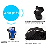 PAMASE Knee Elbow Wrist Protective Pads for Kids