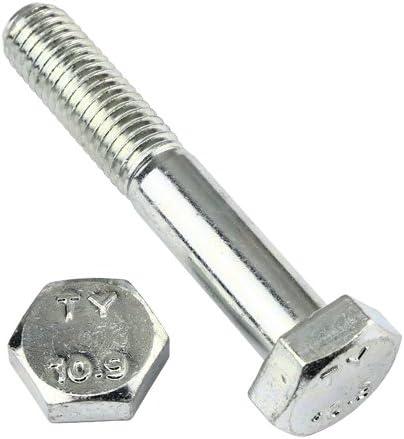 10 Stk Sechskantschraube mit Schaft DIN 931 10.9 M10 x 140 verzinkt